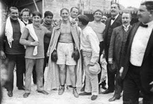Georges Carpentier and supporters in Monte Carlo in 1912