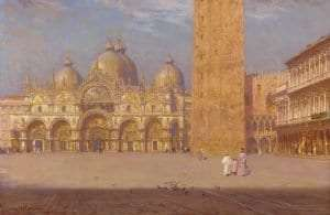 San Marco by Walter Launt Palmer (1854-1932) ca. 1895, oil on canvas, courtesy Albany Institute of History & Art.