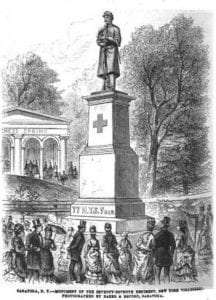 77th Monument from Frank Leslie's Illustrated Newspaper