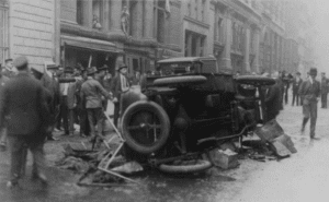 Aftermath of bombing in the Wall Street courtesy Library of Congress