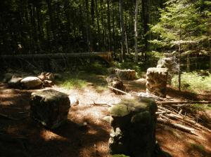 Former Adirondack Tent Platform Site on Forked Lake