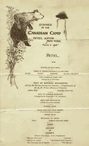 Hotel Astor menu