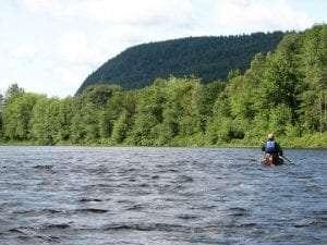 Mike Prescott paddling