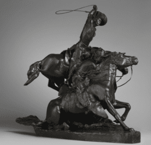 Lassoing Wild Horses by Solon Hannibal Borglum
