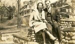 Mary Welday and Duke Huntington, cousining in Saranac Lake. courtesy of Priscilla Goss