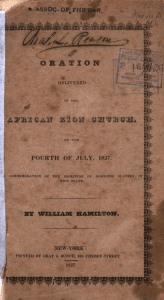 William Hamilton Oration cover,