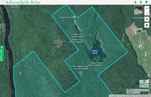 Palmer Pond map courtesy Adirondack Atlas