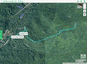 mount gilligan map courtesy adirondack atlas